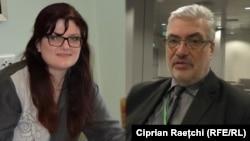 Lina Grâu și interlocutorul ei, analistul rus Pavel Felgenauer