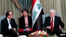 Франсуа Олланд встретился 2 января в Багдаде с президентом Ирака Фуадом Масудом.