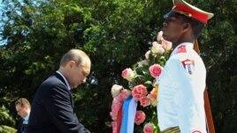 Ресей президенті Владимир Путинді күтіп алған құрметті қарауыл. Куба, 11 шілде 2014 жыл.