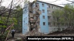 Жилой дом в Саратове после обрушения угла здания