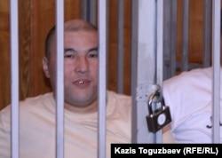Курмангазы Утегенов во время судебного процесса в Алматинском городском суде. 11 сентября 2007 года.