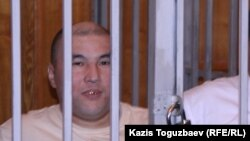 Курмангазы Утегенов во время судебного процесса по «Шаныракскому делу» в Алматинском городском суде. Алматы, 11 сентября 2007 года.