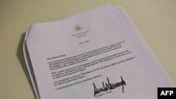 Letra e shkarkimit të drejtorit të FBI-së, James Comey