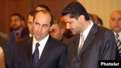 Второй президент Армении Роберт Кочарян, премьер-министр Армении Тигран Саргсян