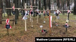 The Polish military cemetery at Mednoye