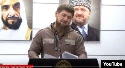Кадыров читает свою речь по бумажке во время открытия Фонда Зайда в Грозном