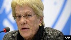 Член комиссии по расследованию фактов применения химического оружия в Сирии Карла дель Понте.