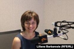 Aldona Jočienė, în studioul Europei Libere