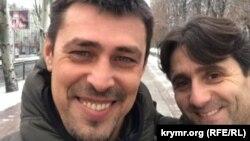 Олександр Франчетті з Деяном Беричем у не підконтрольному Україні Донецьку