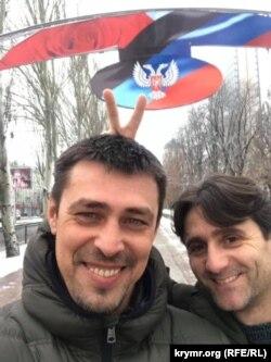 Александр Франчетти с Деяном Беричем в неподконтрольном властям Украины Донецке