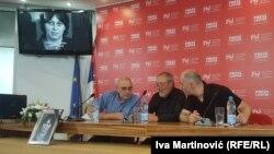 Filip Švarm, Lino Veljak i Milivoj Đilas na komemoraciji Tatjani Tagirov