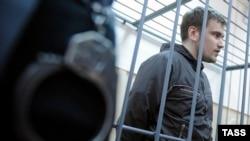 Розгляд клопотання про арешт Олексія Гаскарова, обвинуваченого у заворушеннях на Болотній площі, Москва, 29 квітня 2013 року