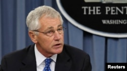 U.S. Secretary of Defense Chuck Hagel (file photo)