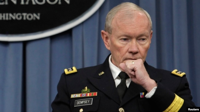 U.S. Chairman of the Joint Chiefs of Staff General Martin Dempsey said a task force would take about two years to ascertain what Snowden took. (file photo)