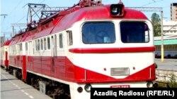 Azerbaijan -- Train in Baku station - 2016