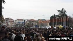 Protestat e studentëve në Maqedoni.