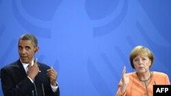 Барак Обама жана Ангела Меркель, Берлин, 2013-жыл.