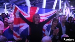 Сторонники выхода Великобритании из Евросоюза проводят акцию в Лондоне. 4 июня 2016 года.