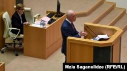 Выступление Давида Залкалиани в парламенте