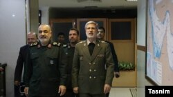 Top IRGC commander, Hossein Salami (L) and Minister of Defense Amir Hatami. July 24, 2019