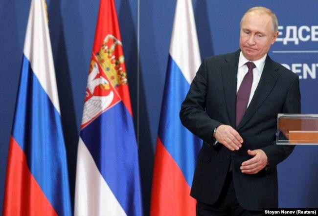 Президент Росії Владімір Путін. Белград, 17 січня 2019 року