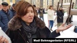 Куралай Алимова, родственница инспектора государственного предприятия «Охотзоопром» Ерлана Нургалиева, погибшего от рук предполагаемых браконьеров. Астана, 21 января 2019 года.