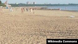 "Пляж ""Дюны"" на берегу Финского залива"