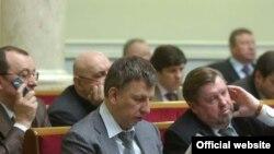 Під час пленарного засідання Верховної Ради України. Київ, 9 березня 2010 року.
