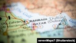 Мапа на Бахреин.