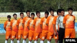 "Tajik football team of ""Istiqlol,"" on which the president's son, Rustam Emomali, is a leading player."