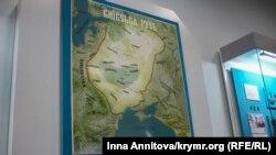 Карта Київської Русі в Національному музеї історії України