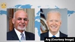 Afghan President Ashraf Ghani and U.S. President Joe Biden (file photo)