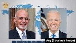 جوبایدن رئیس جمهور امریکا و محمداشرف غنی رئیس جمهور افغانستان