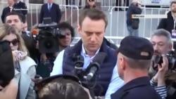 Навального вывели с митинга против сноса «хрущевок» в Москве (видео)