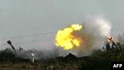 Израил Газа аймағын атқылауда, 4 қаңтар, 2009 жыл.