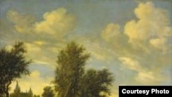 """Одно из полотен коллекции Гаудстиккера: """"Вид на реку с моста"""" Соломона ван Руйсдаела"""