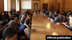 La întîlnirea cu studenții moldoveni din Bulgaria