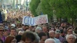 Шествие в защиту университета Сороса