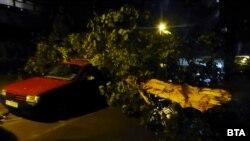 Бурята събори и дървета, причини множество материални щети и прекъсна електрозахранването в няколко квартала