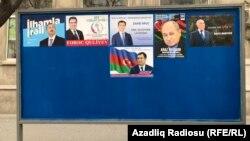 Prezidentliyə namizədlərin posterləri