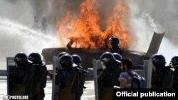 На командно-штабных учениях Полиции Армении в Арзни, 13 сентября 2014 г.