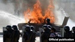 Ոստիկանության զորքերի զորավարժություն «Արզնի» օդանավակայանի տարածքում, 13-ը սեպտեմբերի, 2014թ․