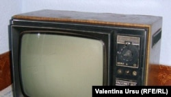 Moldova - Old Soviet television set, undated