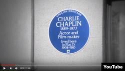 Chaplin-in mavi xatirə lövhəsi