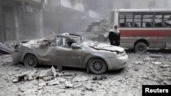 Սիրիա - Հալեպի թաղամասերից մեկը ռմբակածությունից հետո, արխիվ