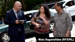 Gürcüstan. Vəkil Archil Chopikashvili, Leyla Mustafayeva və Daşqın Ağalarlı. Tbilisi, 05iyun2017