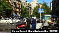 Місце загибелі Павла Шеремета, Київ, 20 липня 2016 року
