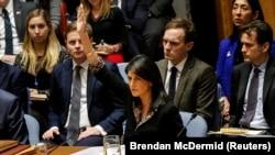 نیکی هیلی نماینده آمریکا در سازمان ملل متحد با انتقاد از پیشنویس قطعنامه شورای امنیت آن را «توهین» به کشور خود توصیف کرده است