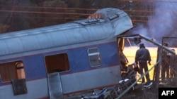 """На месте подрыва поезда """"Невский экспресс"""""""