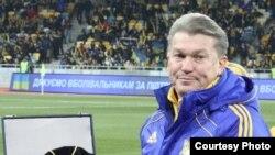 Главный тренер сборной Украины по футболу Олег Блохин. Фото: Виктор Перегняк